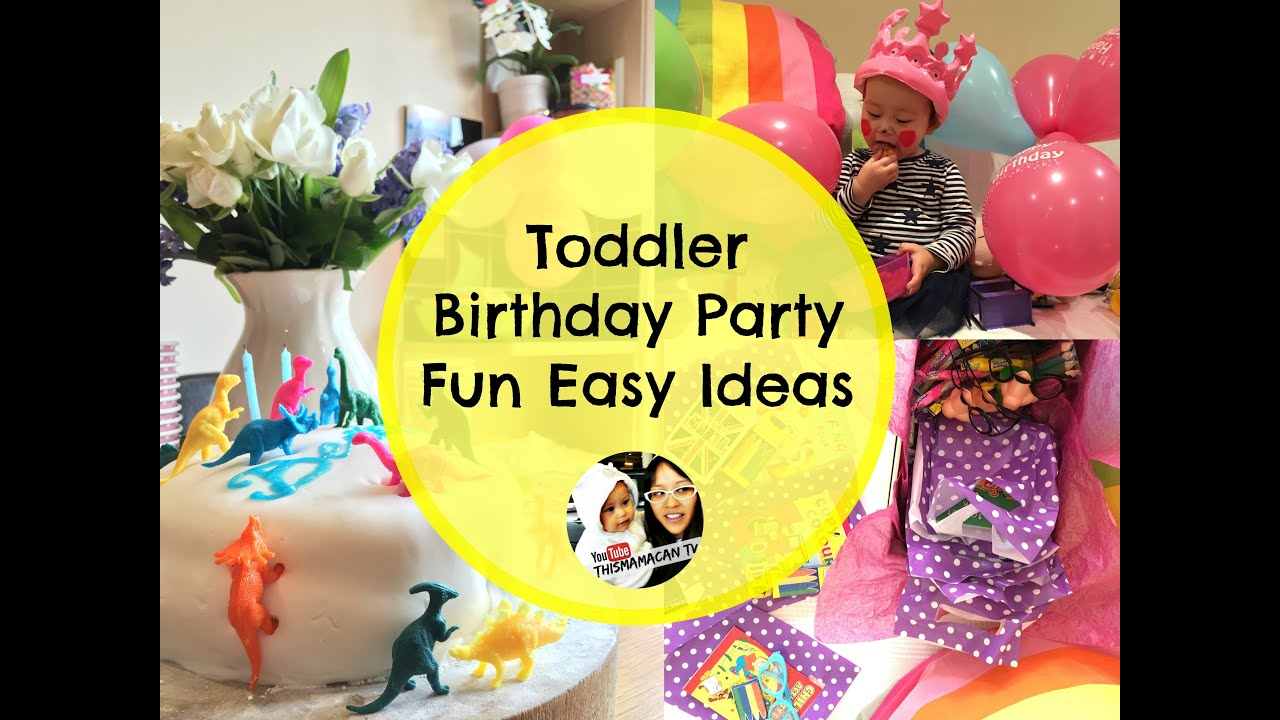 toddler birthday party fun easy ideas youtube