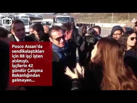 Haklarını arayan Posco Assan işçilerinin yürüyüşüne polis saldırdı