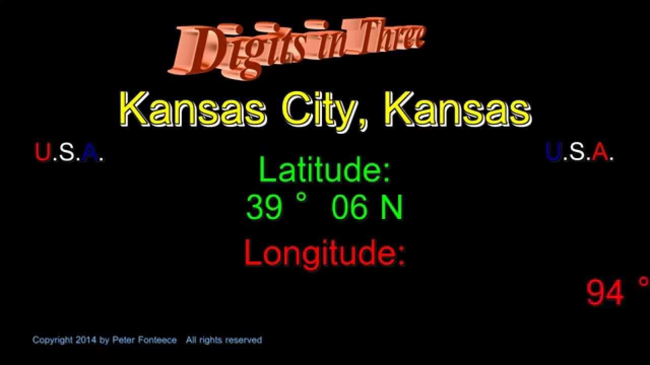 Kansas City Kansas Latitude And Longitude Digits In Three - Latitude and longitude of kansas