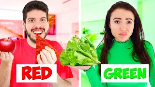 Eating Only ONE Color Food for 24 Hours! (Challenge)