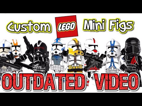 LEGO Clone Trooper Custom Mini Figure Knock Off Review (Outdated Video)