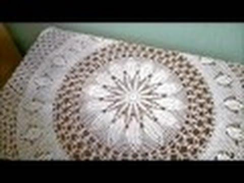 Крючком салфетка круглая большая