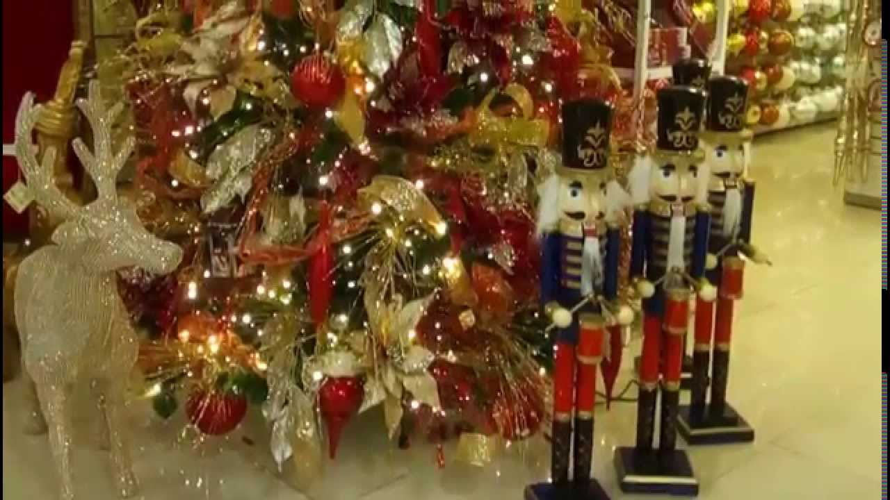 Arbol de navidad rojo decorado decoracion navide a 2017 - Arbol de navidad adornos ...