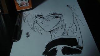 How to Draw Kenshin From Rurouni Kenshin 謙信るろうに剣心