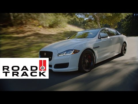 Can a Luxury Sedan Really Feel Like a Sports Car? | Road & Track + Jaguar