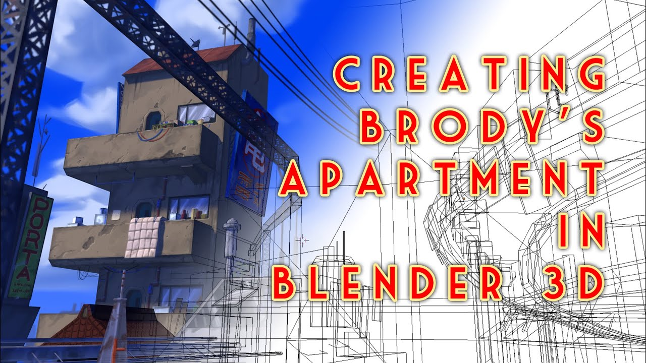 Creating Brody's Apartment with Blender 3D