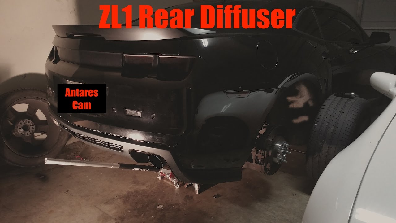 How To Camaro Zl1 Diffuser Install Youtube