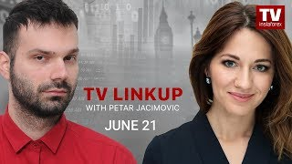 InstaForex tv news: TV Linkup June 21: Good idea to carry on selling USD? (USD, EUR, GBP, JPY)