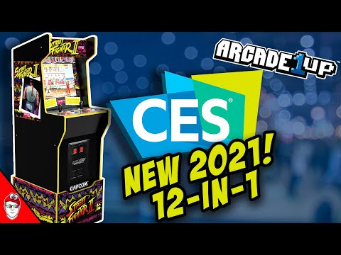 Arcade1up CES 2021 - New Street Fighter 12-in-1 from Console Kits
