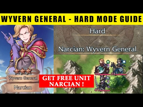 Get Free Unit Narcian - Special Map Wyvern General Hard Mode Guide (Fire Emblem Heroes)