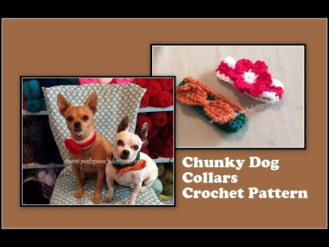 Chunky Dog Collars Crochet Pattern