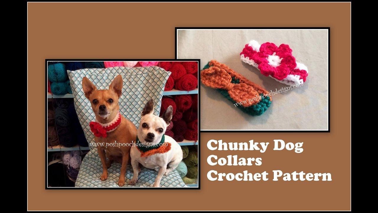 Chunky Dog Collars Crochet Pattern Youtube