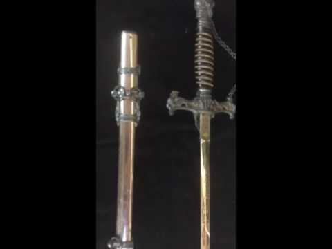 Knights of Pythias sword J. M. Litchfeld