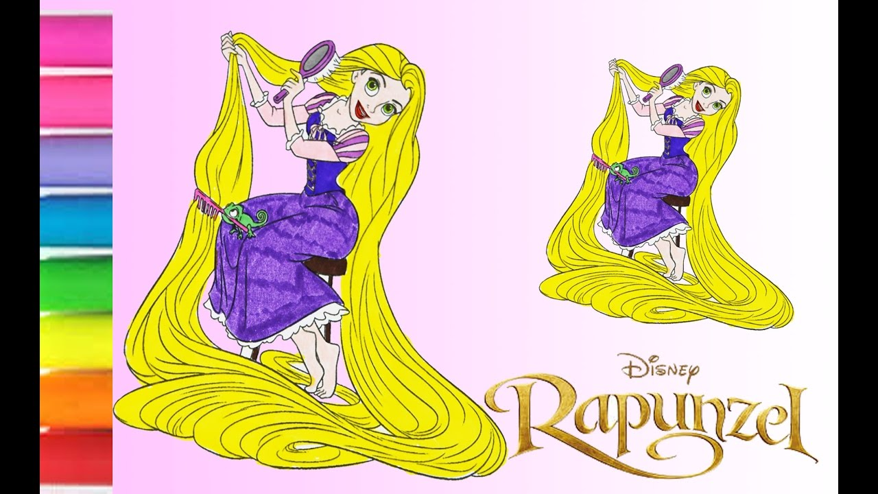 disney princess rapunzel tangled coloring book pages rapunze da