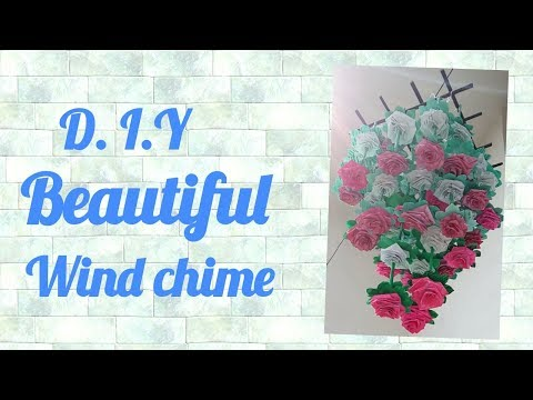 D.I.Y | Wind chime Newspaper craft | Easy Paper Craft
