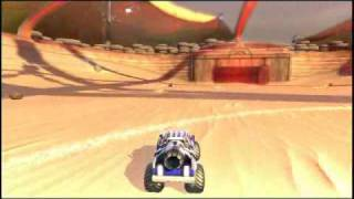 Supersonic Acrobatic Rocket Powered Battle Cars Video
