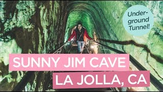 Underground Tunnel to the Sunny Jim Cave in La Jolla, California