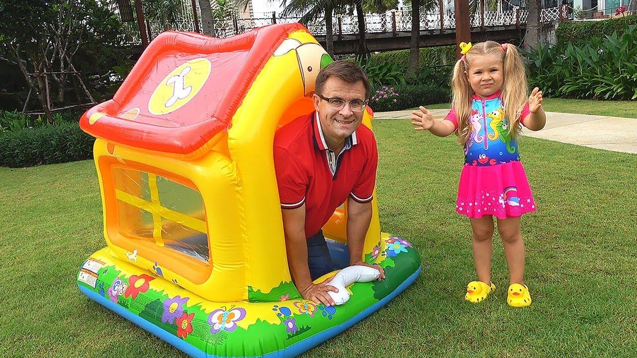 Диана и папа - Домик для детей / Diana and papa pretend play with toy house