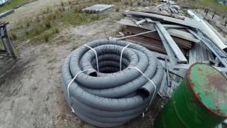 видео Труба дренажная перфорированная с геотканью