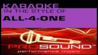 all 4 one-i swear karaoke/instrumental