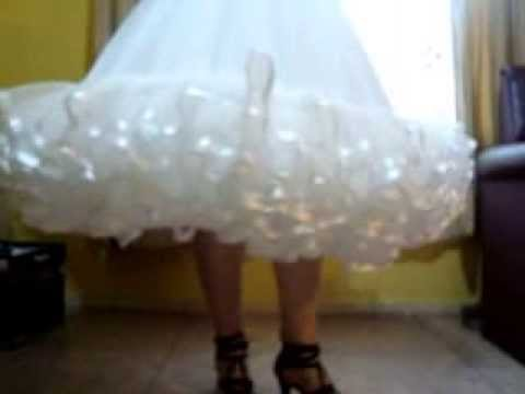 Falsos para Vestidos de Huasa - YouTube