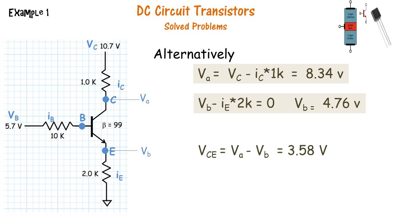 Transistor Circuit Example Problems Modern Design Of Wiring Diagram Npn Circuits Solved Youtube Rh Com Explained Examples