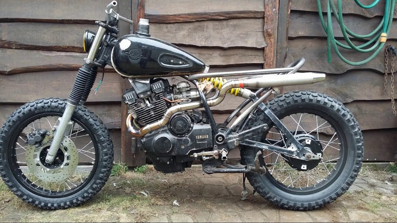 yamaha xs400 scrambler test uk adu wydechowego youtube. Black Bedroom Furniture Sets. Home Design Ideas