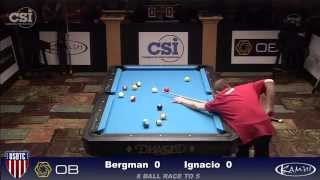 2015 USBTC 8-Ball: Justin Bergman vs Jeffrey Ignacio (Men