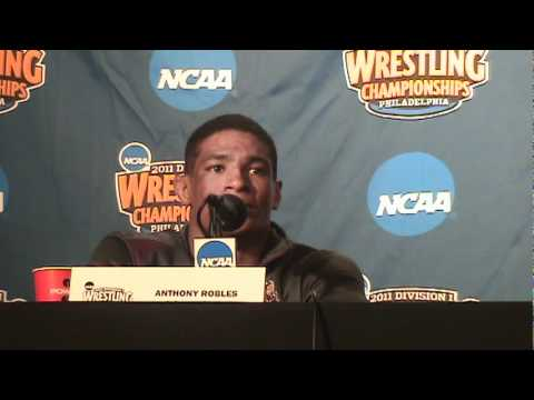 125-pound NCAA Division I Champion Anthony Robles of Arizona State