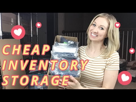 Cheap DIY Storage Solution For Ebay Poshmark Inventory In Small Space