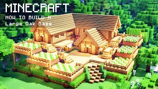Minecraft: How To Build a Large Oak Wood Survival Starter House