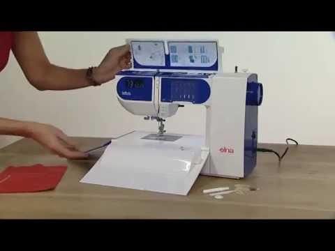 Elna Lotus Sewing Machine Demonstration YouTube New Elna Lotus Sp Portable Sewing Machine