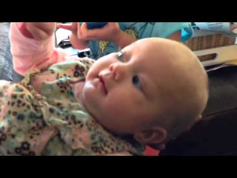 3 Month Old Kate Saying I Love You Youtube