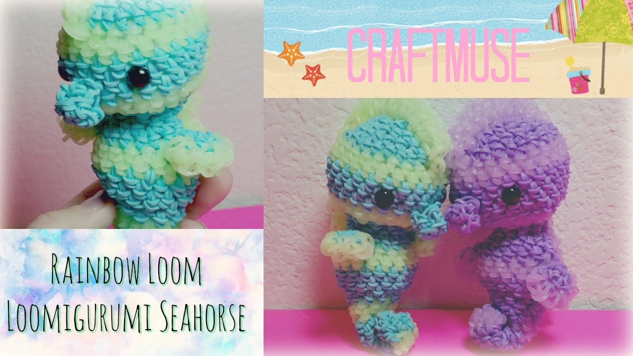 Rainbow loom loomigurumi seahorse youtube bankloansurffo Image collections