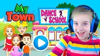 ИГРАЕМ В ШКОЛУ ТАНЦЕВ видео ДЛЯ ДЕТЕЙ игровой мультик детская игра про школу танцев My Town