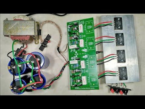 Cara Merakit Power Amplifier Dengan Kit Driver Sanken 400 Watt Stereo