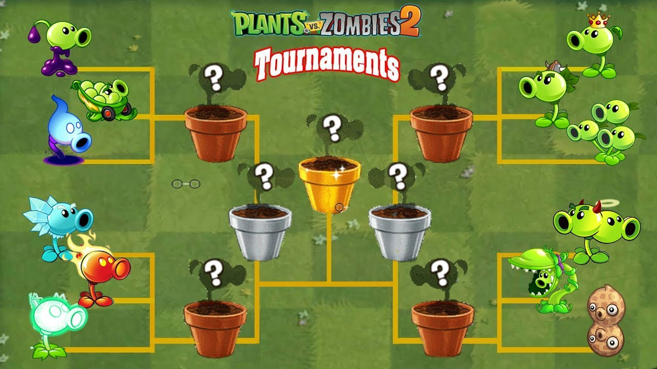 PvZ 2 Tournament All Peashooters Plants  - Who Will Win? (v9.2.1)