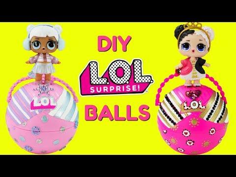 D.I.Y. LOL Surprise Balls Custom Makeover Heartbreaker Snow Angel LOL Surprise Dolls Toys