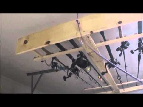 Diy Fishing Rod Holder Garage Fishing Rod Storage Youtube