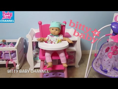 Bitty Baby NEW! Toys R Us Highchair + Musical Playmat + Activity  High Chair + Morning Routine