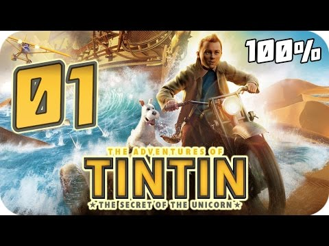 The Adventures of Tintin: The Game Walkthrough Part 1 (PS3, X360, Wii) 100% Movie Chapter 1 to 5