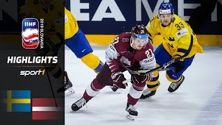 Last-Minute Empty Net Goal: Schweden - Lettland 5:4 | Highlights | IIHF Eishockey-WM 2019 | SPORT1