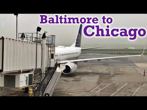 Full Flight: United Airlines B737-800 Baltimore to Chicago (BWI-ORD)
