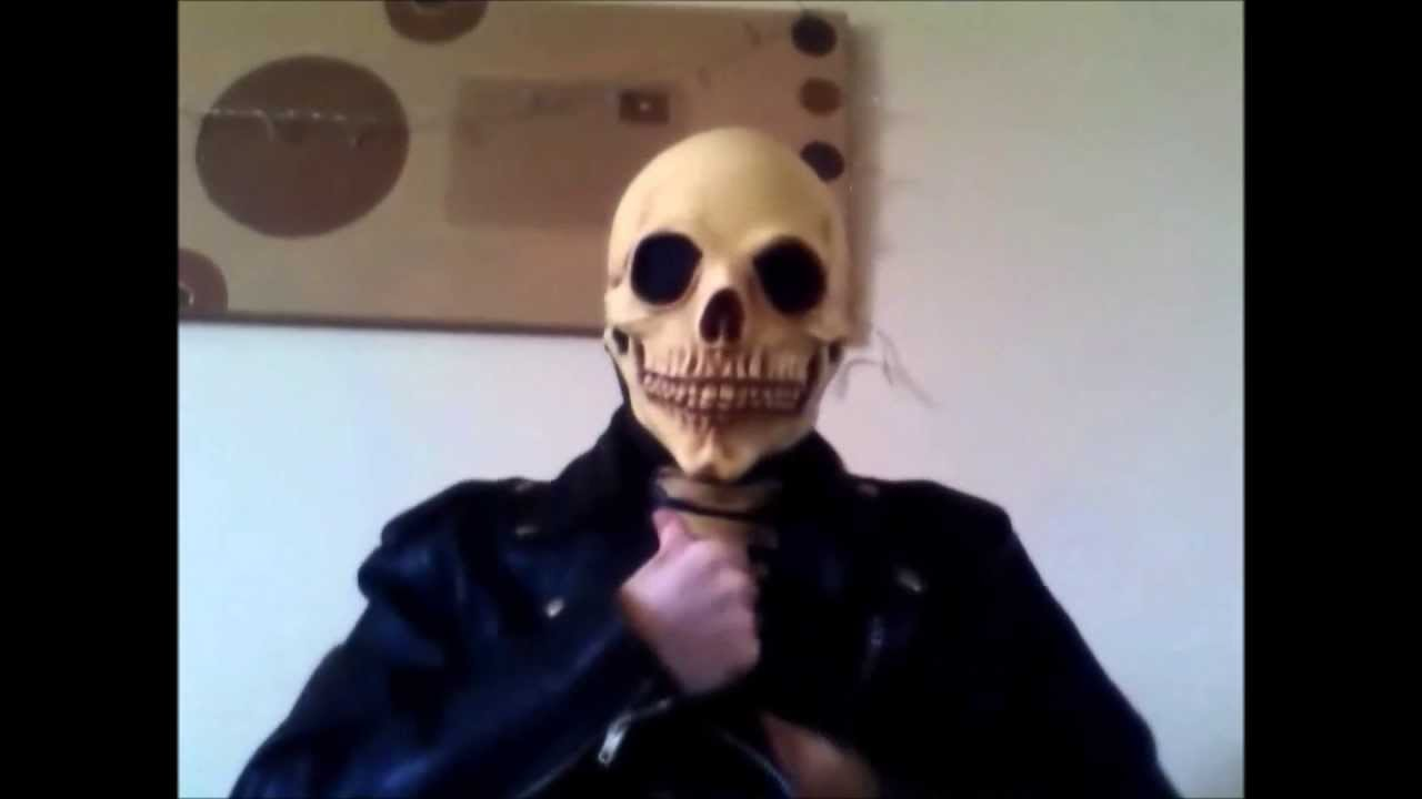 Putting on and taking of ghost rider skeleton latex mask youtube putting on and taking of ghost rider skeleton latex mask solutioingenieria Choice Image