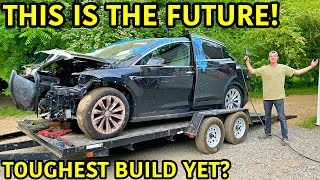 Rebuilding A Wrecked 2020 Tesla Model X