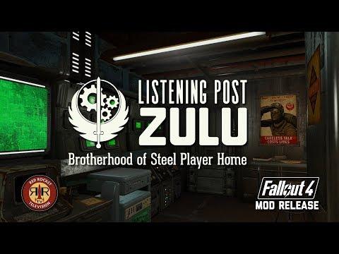 Fallout 4 Mod Release: Listening Post Zulu - Brotherhood of Steel Player Home