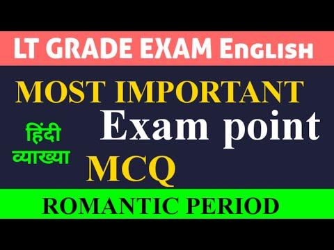Lt Grade english Romantic period imp question Mp3