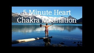 5 Minute Quick Break Meditation: A Heart Chakra, Guided Spoken Visualization