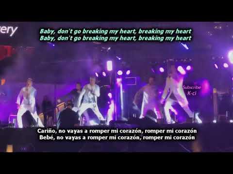 Don't Go Breaking My Heart - Backstreet Boys (Lyrics + Sub Español)