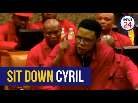 WATCH | EFF MPs disrupt SONA, request Pravin Gordhan be removed from parliament